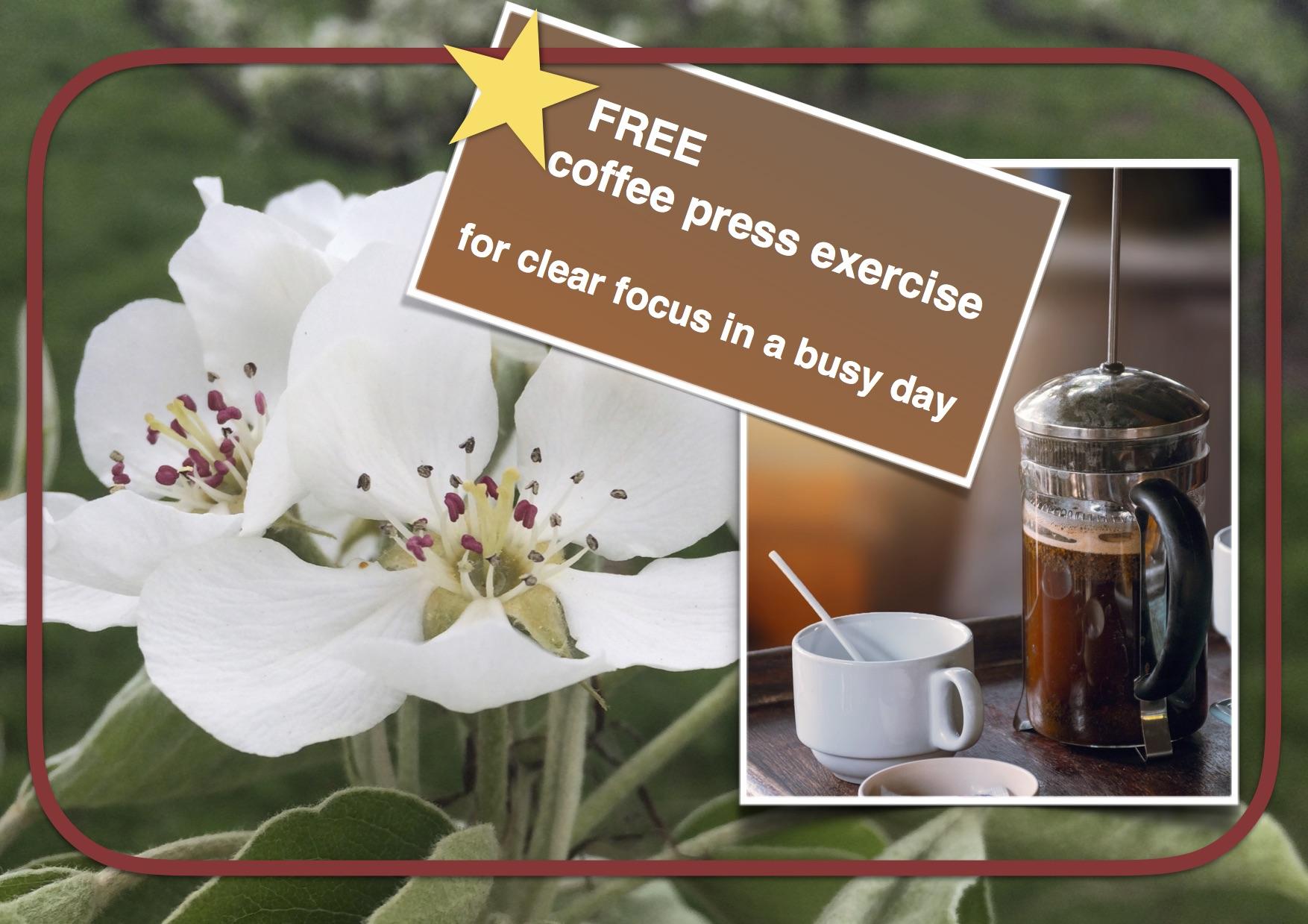 Receive Coffee Press exercise